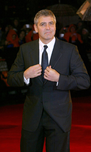 Wonder if that italian suit the dashing george clooney is wearing is