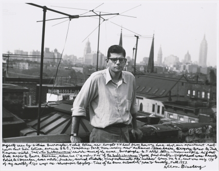Allen Ginsberg, Myself seen by William Burroughs, Kodak Retina new-bought 2'd hand from Bowery hock-shop..., 1953 Gelatin silver print, printed 1984–1997 National Gallery of Art, Washington, Gift of Gary S. Davis, 2009.108.1(Courtesy of the Contemporary Jewish Museum)