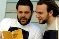 Wise Sons: Evan Bloom (left) and Leo Beckerman serve up nouveau deli sandwiches at their shop in San Francisco and soon at the city's Jewish museum.