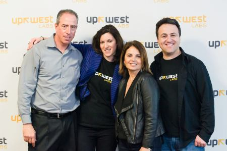 UpWest Labs team members (from left) Liron Petrushka, Yael Winer, Shuly Galili and Gil Ben-Artzy photo/maki oshiro