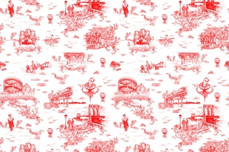 Beastie Boys' Mike D's 'Brooklyn Toile' wallpaper