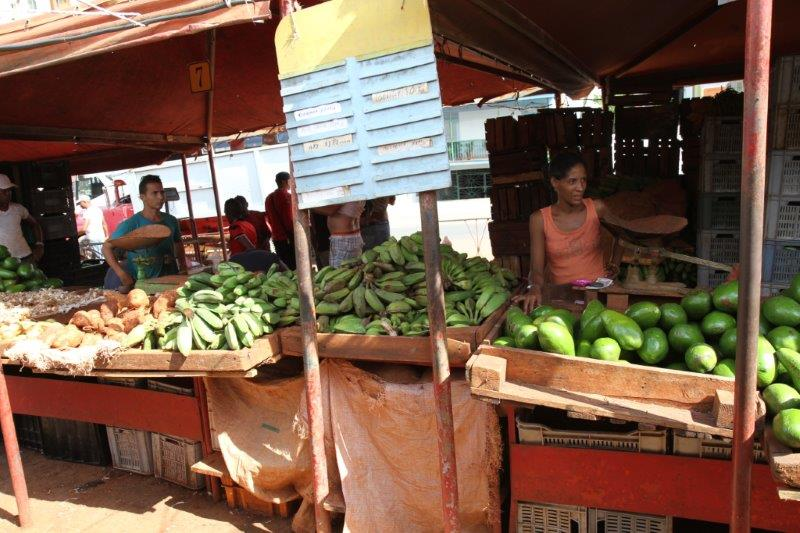 Cuba truth praise and help for Outdoor food market