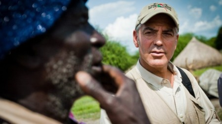 George Clooney in South Sudan (photo credit: Tim Freccia/Not On Our Watch)
