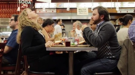 'When Harry Met Sally' gets a real-life take with a comedy improv group at Katz's Deli. (photo credit: YouTube screenshot)
