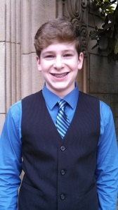 Vocal bar mitzvah boy Duncan Sennett. (photo credit: Robin McAlpine)