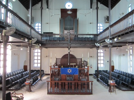 Congregation Sha'are Shalom in Kingston, Jamaica is one of only five existing sand-floor synagogues in the world. (photo credit: Elie Klein)