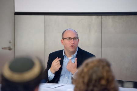 Yehuda Kurtzer, president of the Shalom Hartman Institute of North America, leads a roundtable discussion for Jewish professionals at the Contemporary Jewish Museum in 2013.