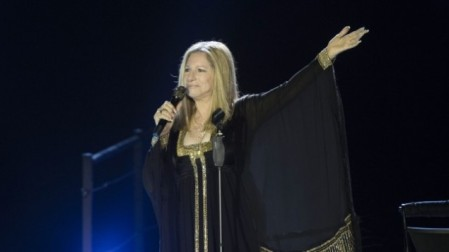 Jewish-American singer Barbra Streisand in concert at Bloomfield Stadium in Tel Aviv, on June 20, 2013. (photo credit: Yonatan Sindel/Flash90)
