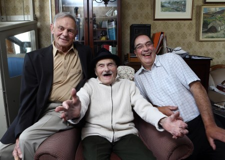 Elliot, Sammy and Alan Matthews who feature in True North: The Last Minyan – A Belfast Jewish Story on BBC One Northern Ireland (courtesy of BBC Northern Ireland)