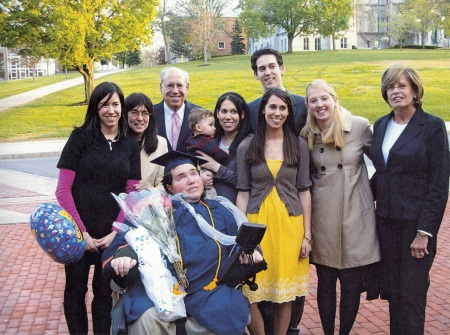 The Sherman family at Eyal's 2009 graduation from Syracuse University. (Courtesy of Rabbi Charles Sherman)