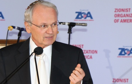 Morton A. Klein, has been re-elected to another term as ZOA national president (photo credit: Joseph Savetsky/courtesy of ZOA)