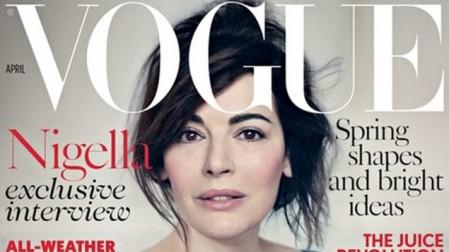 Nigella Lawson's April Vogue cover (screenshot of detail)