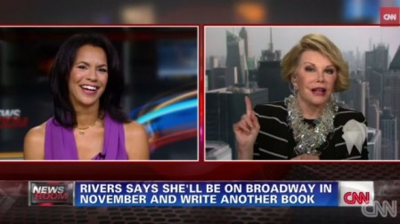 Joan Rivers gets defensive on CNN. (YouTube screenshot)