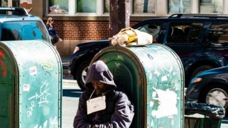 A beggar in New York (illustrative image: Frank Gaertner / Shutterstock.com)